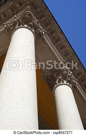 Columns of St. Luigi Church, Milan - csp8547271