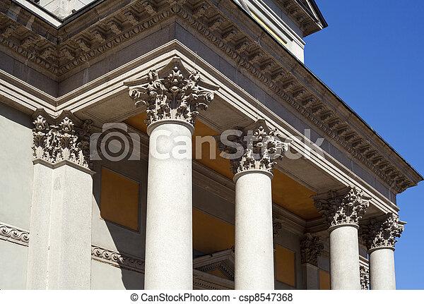 Columns of St. Luigi Church, Milan - csp8547368