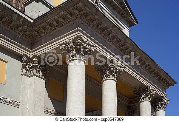Columns of St. Luigi Church, Milan - csp8547369