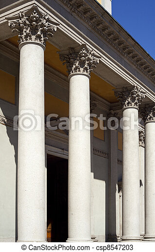 Columns of St. Luigi Church, Milan - csp8547203