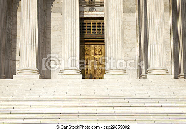 Columns, steps and doors of the Supreme Court of the United States - csp29853092