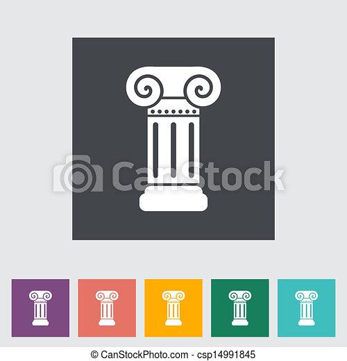 coluna, apartamento, único, icon. - csp14991845