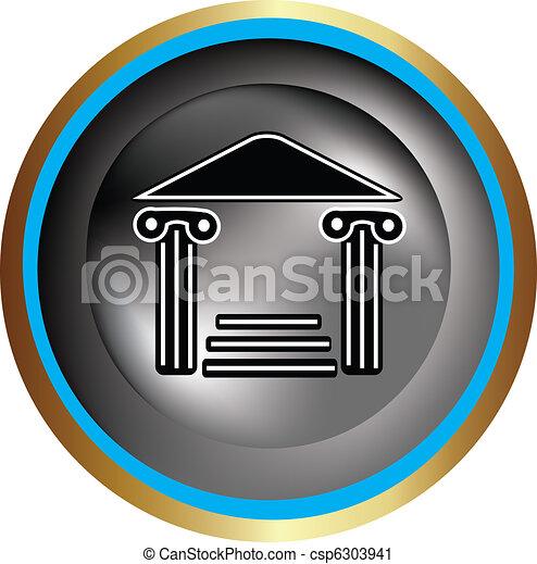 coluna, grego, ícone - csp6303941