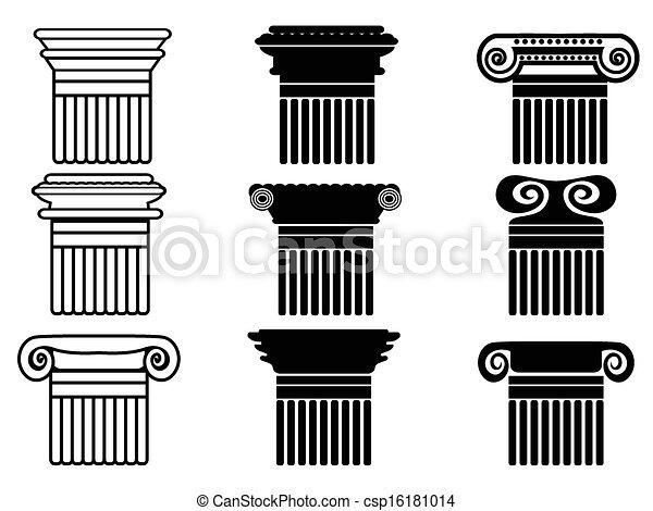 coluna, jogo, ícones - csp16181014