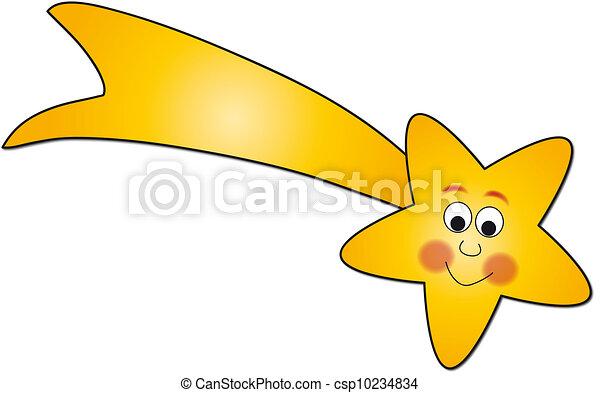 comète, illustration - csp10234834