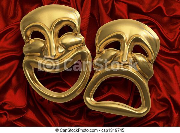 comédie, masques tragédie - csp1319745