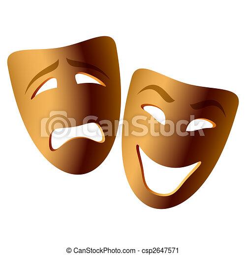 comédie, masques tragédie - csp2647571