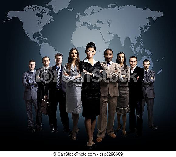 comércio pessoas, equipe - csp8296609