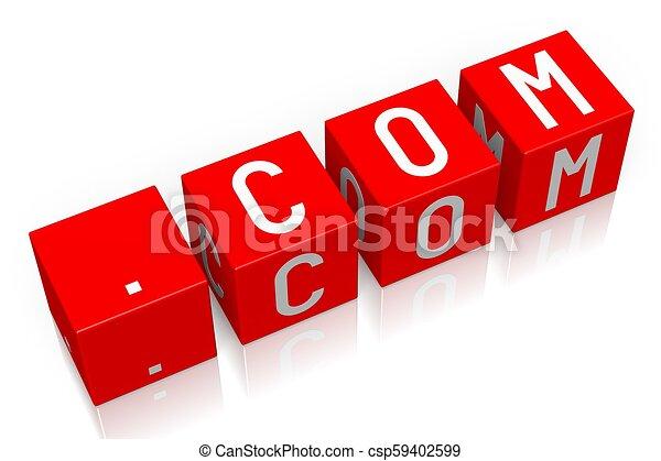 .Com - 3D cube word - csp59402599