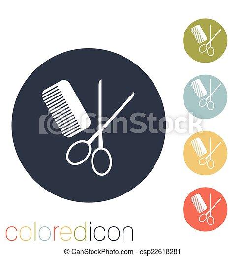 comb and scissors. barbershop. - csp22618281