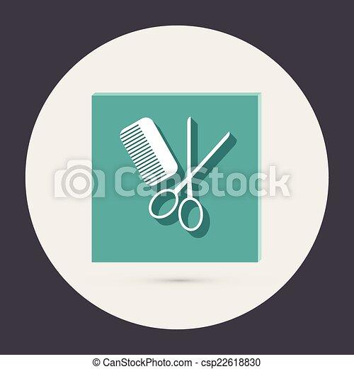 comb and scissors. barbershop. - csp22618830