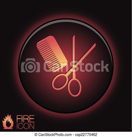 comb and scissors. barbershop. symbol of hair and beauty salon - csp22770462