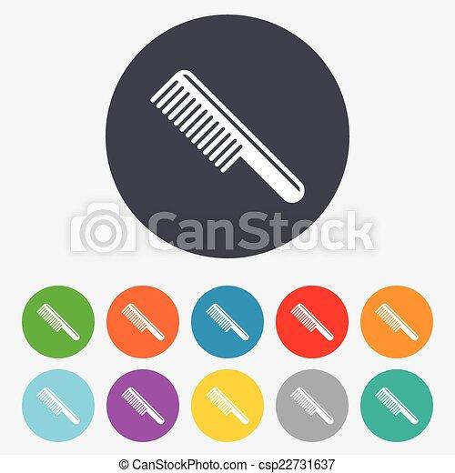 Comb hair sign icon. Barber symbol. - csp22731637