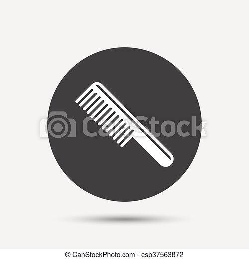Comb hair sign icon. Barber symbol. - csp37563872