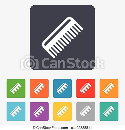 Comb hair sign icon. Barber symbol. - csp22838811