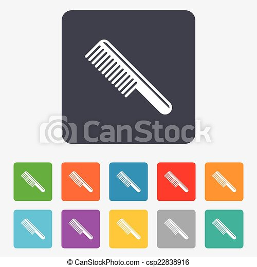 Comb hair sign icon. Barber symbol. - csp22838916
