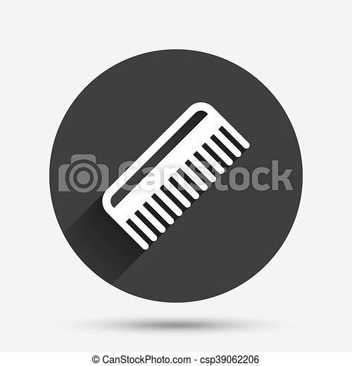 Comb hair sign icon. Barber symbol. - csp39062206