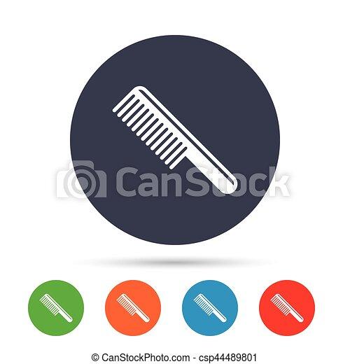 Comb hair sign icon. Barber symbol. - csp44489801