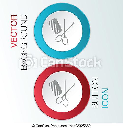 comb, scissors. barbershop. - csp22325662