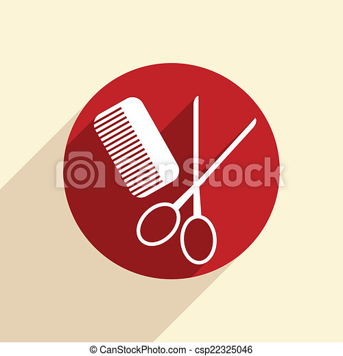 comb, scissors. barbershop. - csp22325046