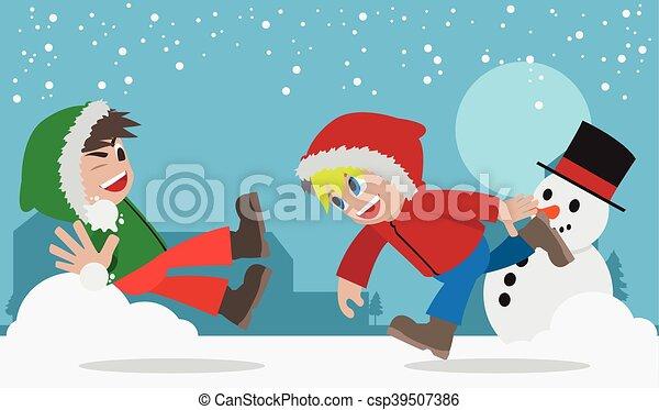 combat snowball - csp39507386