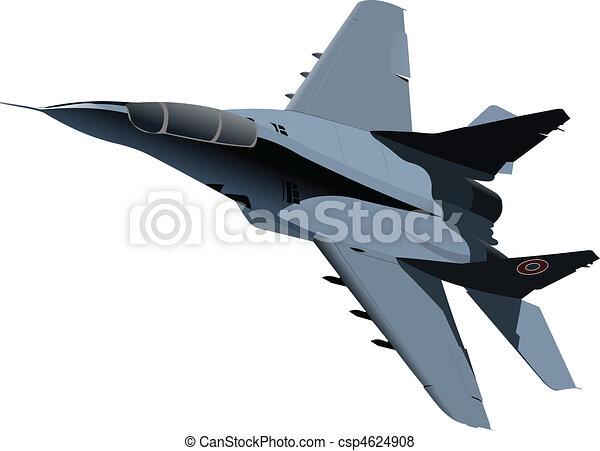 combate, vetorial, aeronave - csp4624908