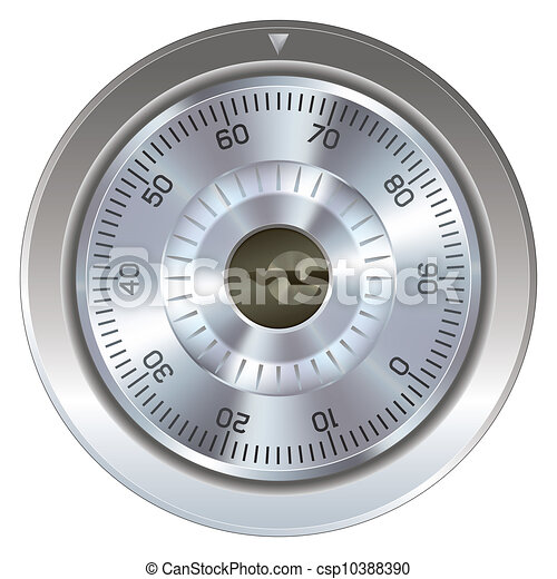 Combination lock with keyholes - csp10388390