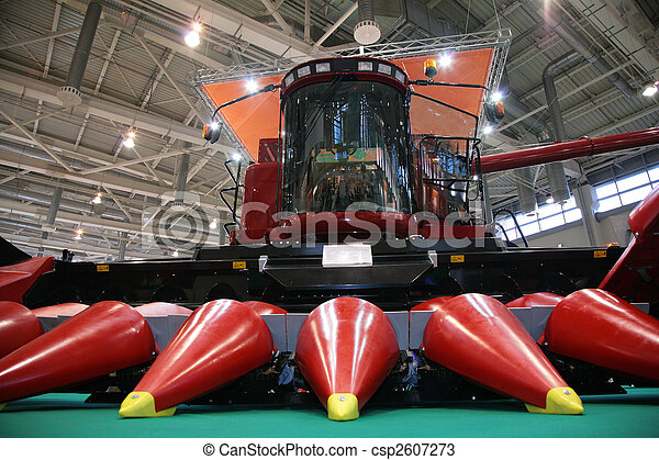 Combine for harvest of corn on exhibition - csp2607273