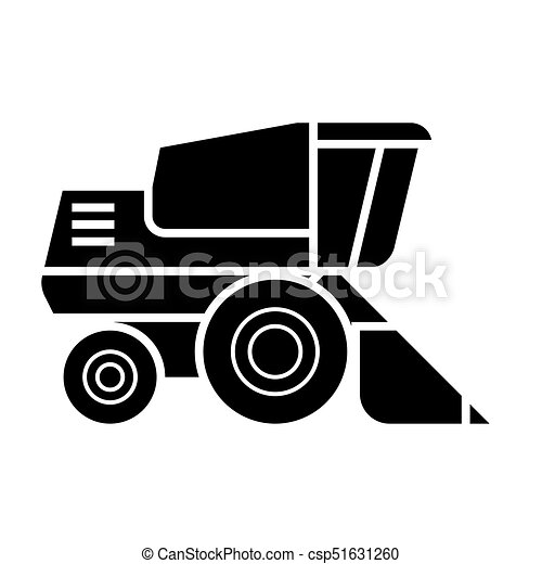 combine harvester  icon, vector illustration, sign on isolated background - csp51631260