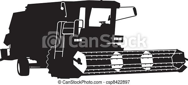 combine harvester - csp8422897