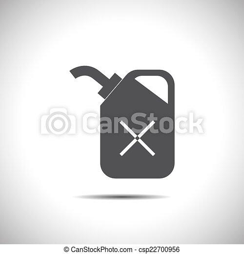 El combustible puede vectorizar el icono - csp22700956