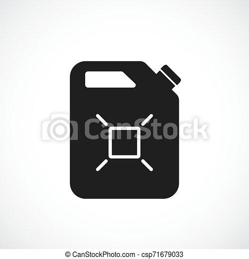 El combustible puede vectorizar el icono - csp71679033