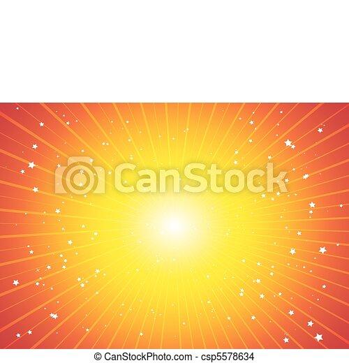 combustion, étoiles, espace - csp5578634