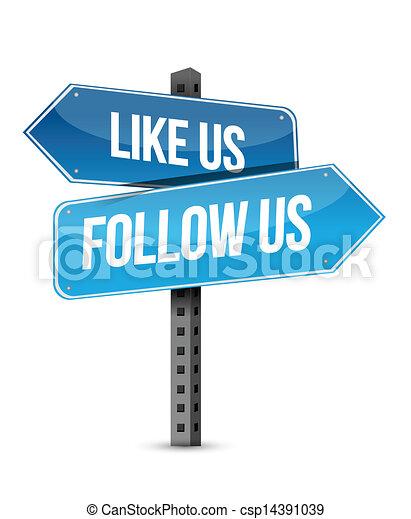 come, illustrazione, segno, strada, disegno, ci, seguire - csp14391039