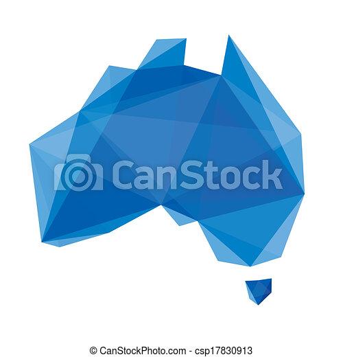 come, mappa, australia, cristal - csp17830913
