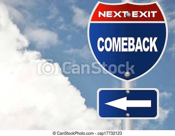 Comeback road sign - csp17732123