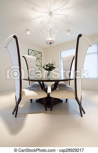 comedor, mesa redonda
