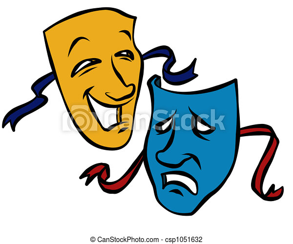 comedy tragedy masks illustrations and clip art 1 708 comedy rh canstockphoto com  drama masks clip art free