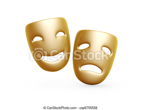 comedy and tragedy masks - csp6755556