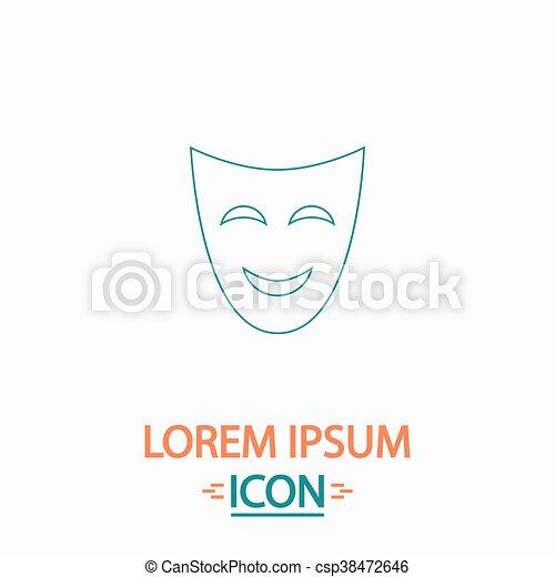 comedy mask computer symbol - csp38472646
