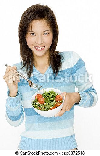 comer, salada - csp0372518