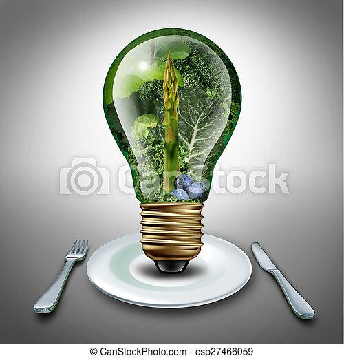 comer saudável, idéia - csp27466059