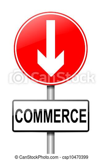 El concepto de comercio. - csp10470399