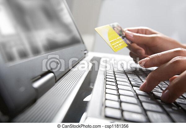 Comercio electrónico - csp1181356