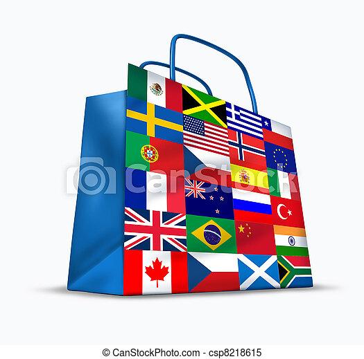 Comercio mundial - csp8218615