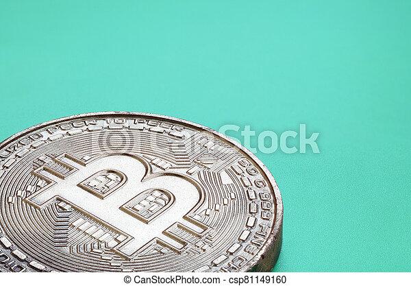 comestible, monnaie, plastique, crypto, bitcoin, formulaire, physique, arrière-plan., produit, vert, chocolat, mensonges, modèle - csp81149160