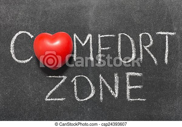 comfort zone - csp24393607