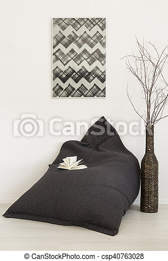 Comfortable Grey Bean Bag Chair
