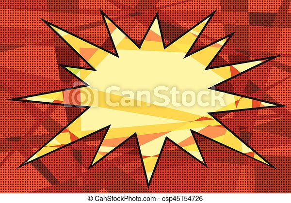 Comic book background explosion - csp45154726