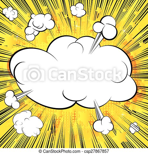 Comic book blank cloud background. - csp27867857